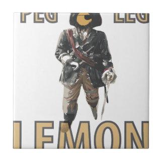 Pirate 'Peg Leg' Lemon Small Square Tile