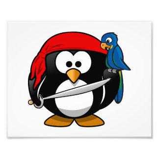 Pirate Penguin Cute Art Photographic Print