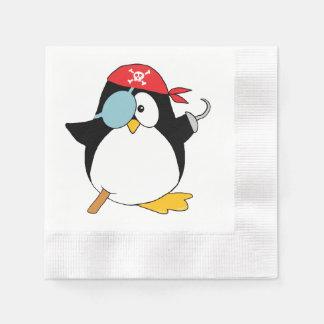 Pirate Penguin Graphic Paper Napkin