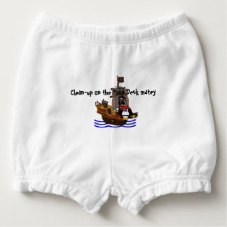 Pirate penguin nappy cover