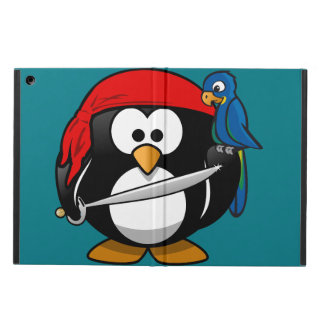 Pirate penguin parrot iPad air case