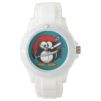 Pirate penguin parrot watch