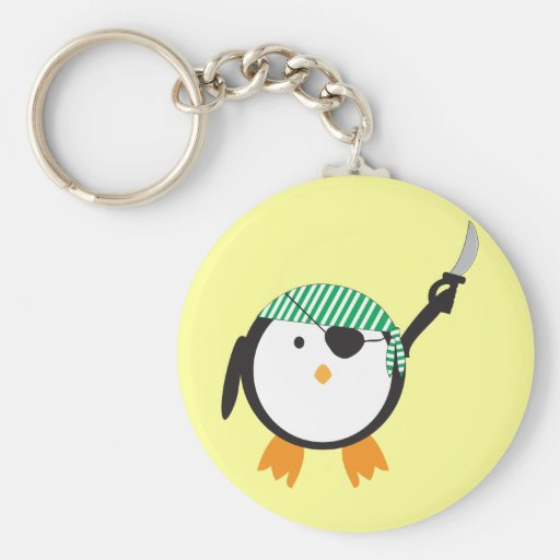 Pirate Penguin With Sword Key Chain