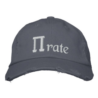 Pirate, PI - rate Embroidered Baseball Caps
