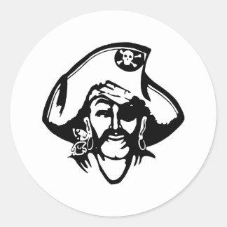 Pirate Pirates Classic Round Sticker