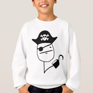 Pirate poker face - meme sweatshirt