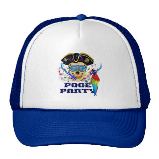 Pirate Pool Party IMPORTANT Read About Design Trucker Hats