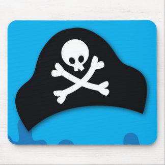 Pirate pool party invitation mousepads