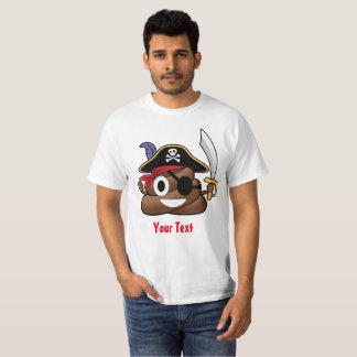 Pirate Poop Emoji Halloween T-Shirt