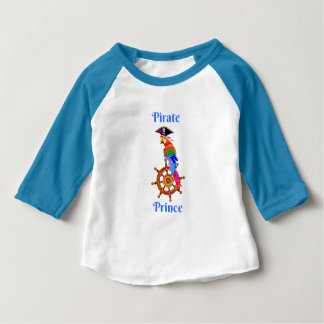 Pirate Prince - Parrot 3/4 Sleeve Baby T-Shirt