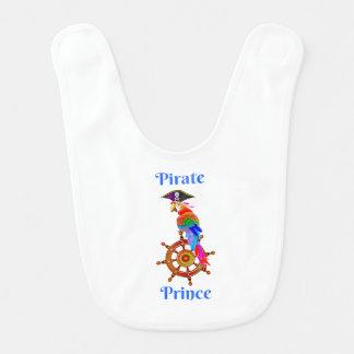 Pirate Prince - Parrot Baby Bib