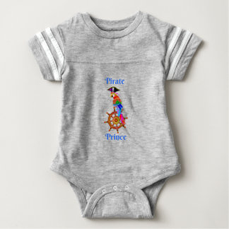 Pirate Prince - Parrot Baby Football Bodysuit