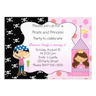 Pirate Princess Birthday Party Invitations