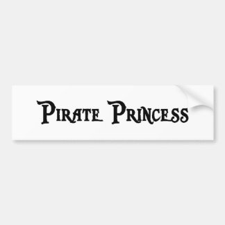 Pirate Princess Bumper Sticker