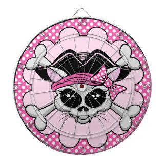 Pirate Princess Kitty Skull Dart Board