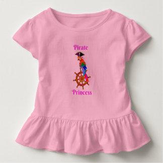 Pirate Princess - Parrot Toddler Ruffle Tee