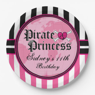 Pirate Princess Party 9 Inch Paper Plate