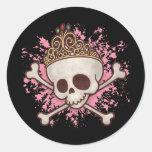 Pirate Princess -tiara Round Sticker