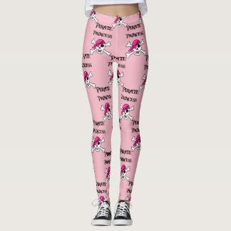 Pirate Princess with Pink Skull Leggings