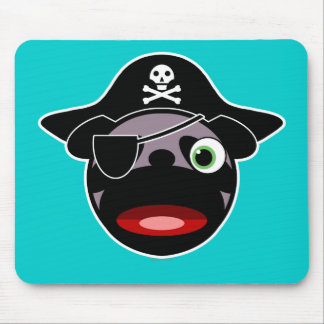 Pirate Pug Mousepad
