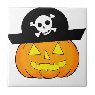 pirate pumpkin small square tile