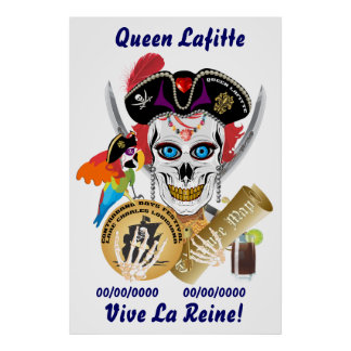 Pirate Queen Lafitte Important Read About Design Poster