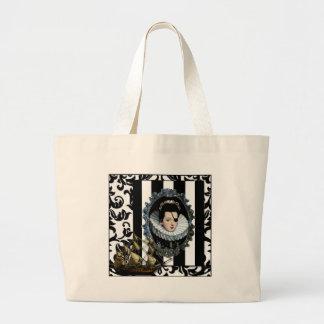 Pirate Queen My Lady original art Tote Bags
