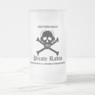 Pirate Radio Frosted Beer Mug