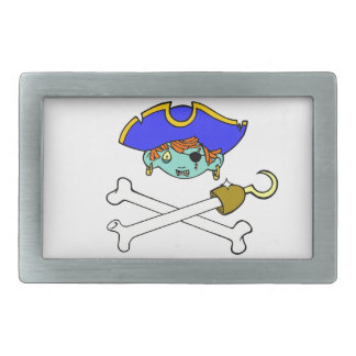 pirate rectangular belt buckles