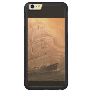 Pirate Sailing Ship Carved Maple iPhone 6 Plus Bumper Case