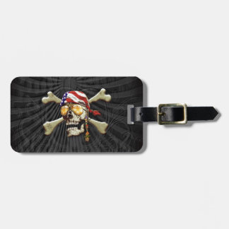 Pirate Scull Luggage Tag