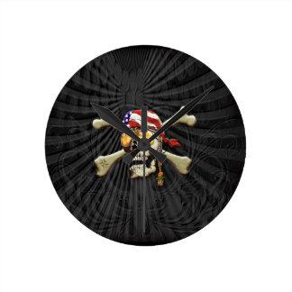 Pirate Scull Wall Clocks