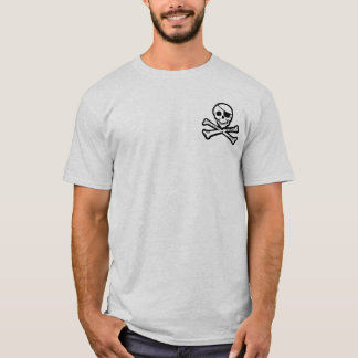 Pirate Seas Poem Jolly Roger T-Shirt
