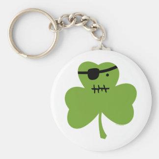 Pirate Shamrock Keychain