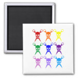 Pirate shears rainbow transparent 2009 square magnet