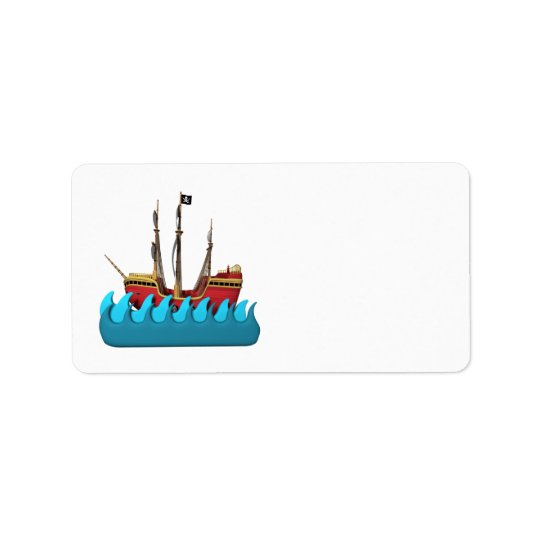 Pirate Ship 2 Address Label