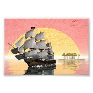 Pirate ship - 3D render Photo Print