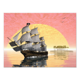 Pirate ship - 3D render Photograph