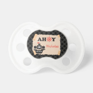 Pirate Ship Ahoy Personalized Pacifier