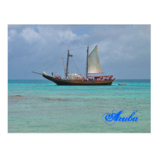 Pirate Ship Aruba Postcard