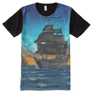 PIRATE SHIP AT SUNSET All-Over PRINT T-Shirt