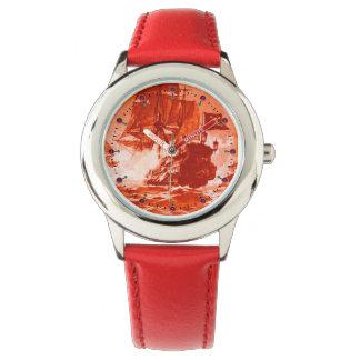 PIRATE SHIP BATTLE Red Nautical Watch