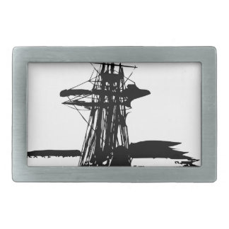 pirate ship belt buckle