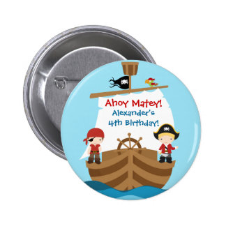 Pirate Ship Birthday Party Button