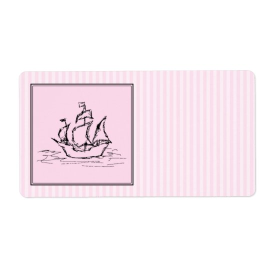 Pirate Ship. Black and Pink.