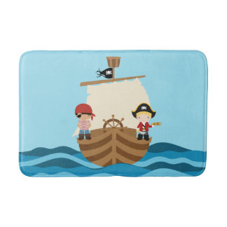 Pirate Ship Boy Bath Mat