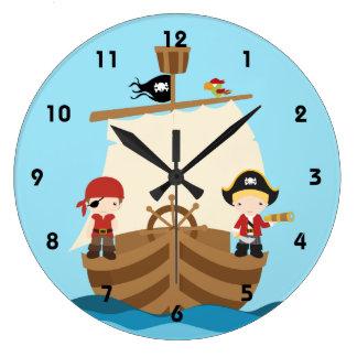 Pirate Ship Boy Wall Clocks