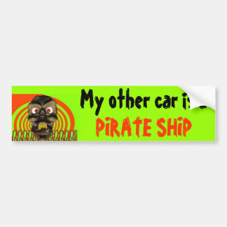 Pirate Ship Car Bumper Sticker