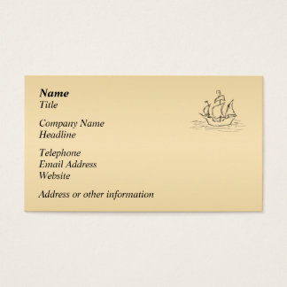 Pirate ship. business card