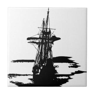 pirate ship ceramic tile